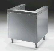 Meuble pour chariots de self - Dimensions : (L x P x H) 800 cm x 820 cm x 870 cm