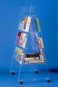 Meuble présentoir de grande capacité - Dimensions (L x P x H) : 0,90  x 0,67 x 1,5 cm