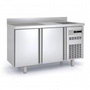 Meuble réfrigéré à évier - Inox - -2°/ 8°C - 2 à 5 portes