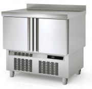 Meuble réfrigéré hauteur 870 - Inox - -2°C /  8°C - 2 ou 3 portes - GN 1/1