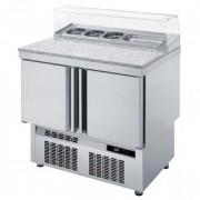 Meuble saladette - Fabrication espagnole  - Certification ISO 9001 et 14001 - Modèle : 2 - 3 portes