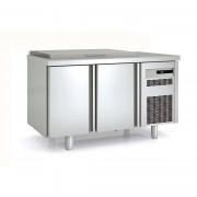 Meuble saladette avec couvercle - Fabrication espagnole - Certification ISO 9001 et 14001 - Modèle : 2 - 3 portes