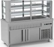 Meuble self service à 3 niveaux - Inox - Température :  4°/ 12°C - de 4 à 6 GN 1/1