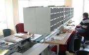 Meuble tri courrier à cases ouvertes - À cases ouvertes  -  Plateaux en mélaminé