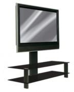 Meuble TV pour écran plat à 2 tablettes - Poids maximum supporté : 50 kg