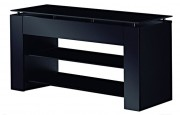 Meuble TV pour écran plat à 3 tablettes - Poids supporté : 90 kg pour plateau supérieur - 20 kg par tablette