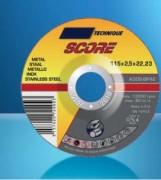 Meule de tronçonnage et d'ébarbage - Dimensions disponibles (mm) : de 115 x 2,5 x 22,2 à 230 x 6,5 x 22,2