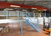 Mezzanine de stockage 1 tonne au m² - Charge allant jusqu'à 1 tonne au m²