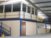 Mezzanine de stockage avec cloisons - Espace optimisé