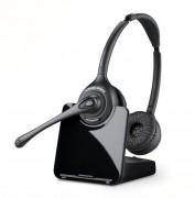 Micro-casque binaural sans fil - Portée : 120 mètres - Autonomie : 9 heures