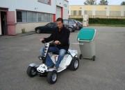 Micro tracteur autoporté avec remorque - Tracteur électrique autoporté Cadeo court