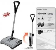 Mini balayeuse industrielle - Capacité de travail max : 1000 m2/h-10764 ft2