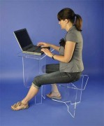 Mini bureau plexiglas - L x H : 90 x 74 cm