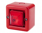 Mini combiné sirène 100 dB LED - Mini combiné sirène 100 dB (A) feu LED IP66 10 sons