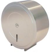Mini distributeur papier toilette rouleau acier - En acier inoxydable brossé -  Rouleaux  : 150 - 300 m - Diamètre 265 mm x P120 mm