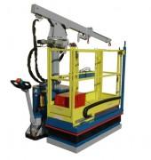 Mini grue avec nacelle - Capacité : 800 Kg - Pour travaux en hauteur