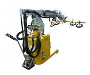Mini grue mobile électrique - Pour maintenance ferroviaire - Capacité : 1000/390 Kg
