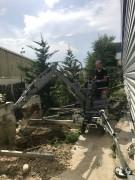 Mini pelle 50 cm de large - Pour travaux en chantier funéraire