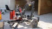 Mini pelleteuse - Longueur x Hauteur - 1900mm x 2000mm