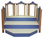 Mini théâtre - Capacité : 15 enfants - Dimensions (L x P x H) cm : 176 x 127 x 166