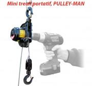 Mini treuil portatif électrique - Adaptable sur perceuse/visseuse 12 volts