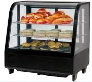 Mini vitrine réfrigérée à poser - Vitre bombée - Capacité (L) : 100