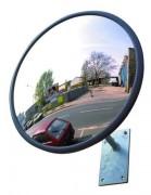 Miroir convexe d'extérieur - Distance de surveillance : de 7 à 27 m