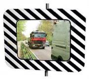 Miroir de circulation réglementaire routière
