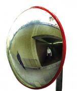 Miroir de sécurité extérieur en polycarbonate - Utilisation : extérieure et intérieure - Fixation : murale ou poteau - Garantie : 5 ans
