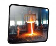Miroir de sécurité industrielle en inox - Utilisation : Extérieure et intérieure - Fixation murale - Garantie : 2 ans