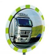 Miroir de sécurité routier - Utilisation : Extérieur et intérieur - Fixation : murale ou poteau - Garantie : 5 ans