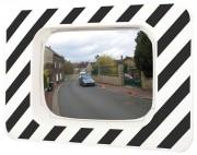 Miroir de sécurité routière - Miroir avec bombage de 90°