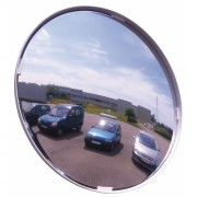 Miroir de surveillance multi-usages cadre blanc - Distance de visibilité : 9 à 35 m