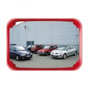 Miroir de surveillance polyvalent cadre rouge - Distance de visibilité (m) : 5 à 20