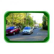 Miroir de surveillance polyvalent cadre vert - Garantie : 5 ans