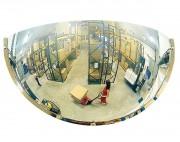 Miroir hémisphérique pour espaces privés - Distance de visibilité (m) : de 4 à 10