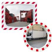 Miroir industriel de sécurité - Distance de visibilité (m) : 9 à 30
