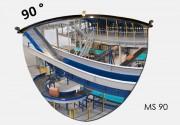 Miroir intérieur de sécurité dôme - Diamètre : 650 mm - Visibilité : 3 m / 6 m