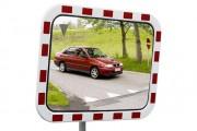 Miroir routier en polycarbonate - Utilisation : Extérieure et intérieure - Fixation : Murale ou sur poteau - Garantie : 5 ans