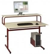Mobilier bureau informatique scolaire - Table informatique scolaire réglable - 120 x 90 cm