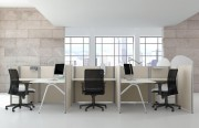 Mobilier call center - Dimensions plan de travail (L x P x H) cm : 120 x 60 x 7,8