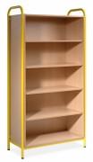 Mobilier de bibliothèques scolaires - 5 tablettes - Dimensions : 100 x 190 x 45 cm