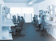 Mobilier pour poste de controle informatique - Tables LAN