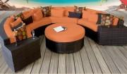 Mobilier terrasse restaurant - En résine tressée