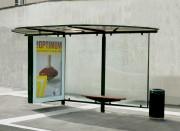 Mobilier urbain abribus - Hauteur 4.50m toit marquise - Poids total 680 kg
