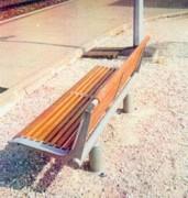 Mobilier urbain sur ancrage - Ancrage pour fixer le mobilier urbain