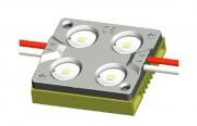 Module 4 LED - Angle diffusion 160° - Couleur : Blanc froid - Durée : 50000 hrs