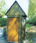 Module sanitaire à habillage bois - Habillage bois  -  Entièrement équipé