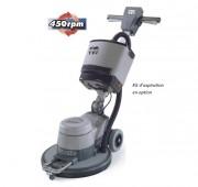 Monobrosse pour sol irrégulier - Puissance moteur: 1500W avec  450 tours/min - Avec brosse de lustrage