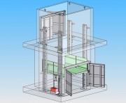 Monte-charge à 4 colonnes - Capacité de 2 à 6 tonnes